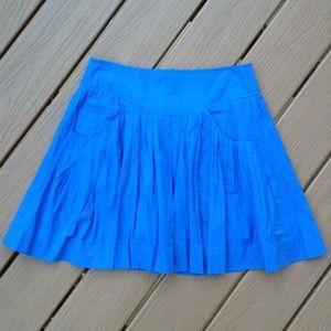EDME & ESYLLTE anthropologie blue full skirt S